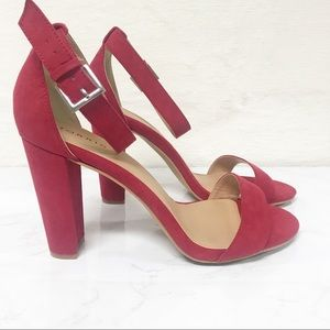 NWT Torrid Red Two Strap Tapered Heel Sandal